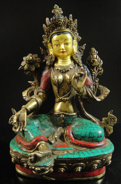 グリーンターラー(緑多羅菩薩)像◆仏教 チベット-A1, BASE 【ベース】:5ce569a9 --- m.vacuvin.hu