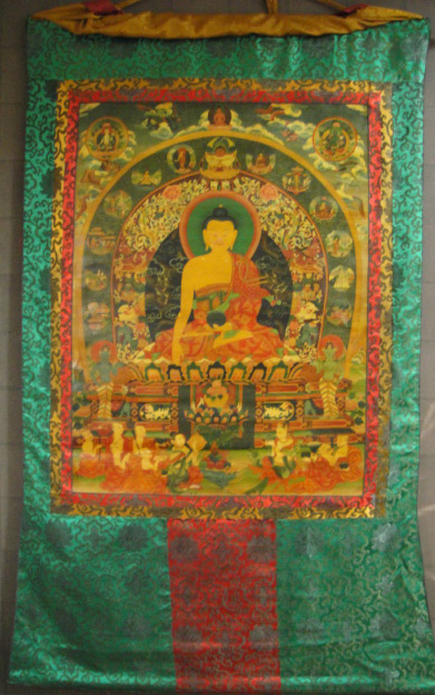 ◆仏陀/釈迦牟尼仏 タンカ/仏画/チベット-アンティーク風