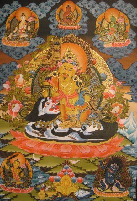 ◆毘沙門天(ヴァイシュラヴァナ)タンカ/仏画/曼荼羅/チベット