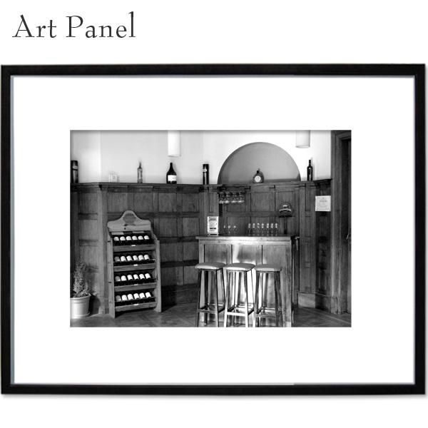 アートパネル モノクロ 海外 ワイン カフェ BAR 壁掛けパネル a2 写真 飾り 黒フレーム 絵画 ポスター 大きい 壁面 装飾