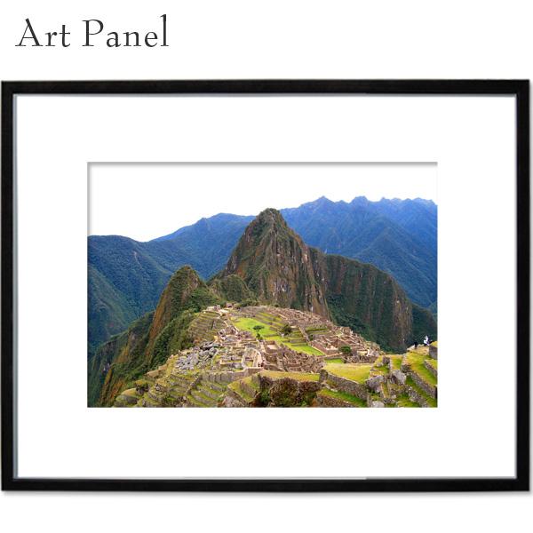 インテリアアートパネル マチュピチュ 壁掛けパネル a2 写真 飾り 黒フレーム 絵画 ポスター 大きい 壁面 装飾