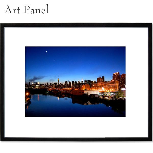 アメリカ ニューヨーク 夜景 アートパネル 壁 飾り 写真 パネル 海外 アート モダン 玄関 壁掛け a2 絵画 ポスター 大きい
