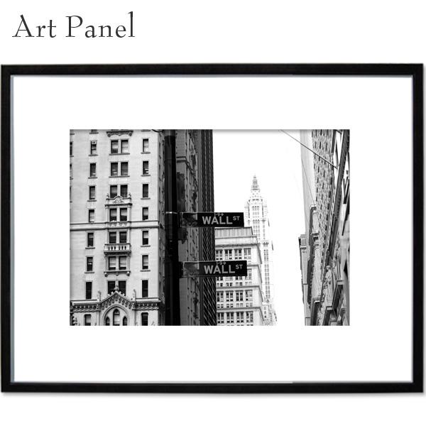 ニューヨーク モノクロ 壁 アートパネル ウォール街 看板 インテリア 写真 飾る a2 絵画 おしゃれ ポスター 大きい