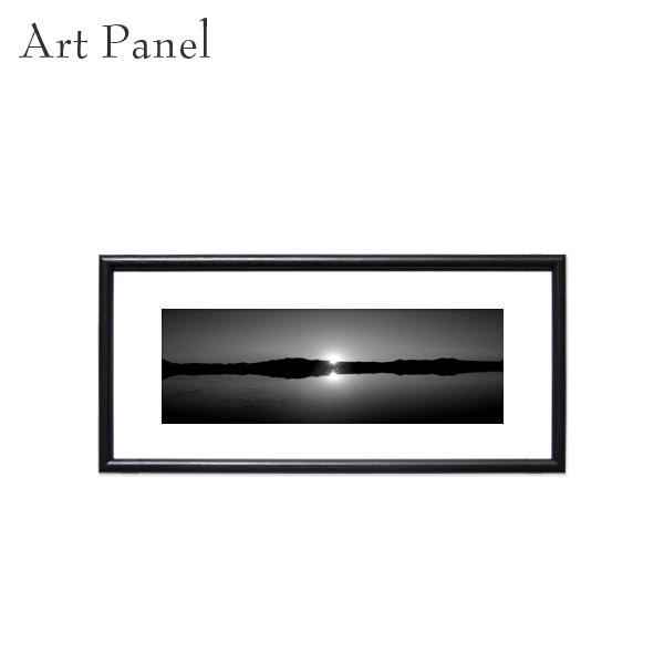 横長アートパネル 壁掛け ウユニ塩湖 モダン モノクロ 白黒 インテリア モノトーン おしゃれ 絵画 ポスター 額縁