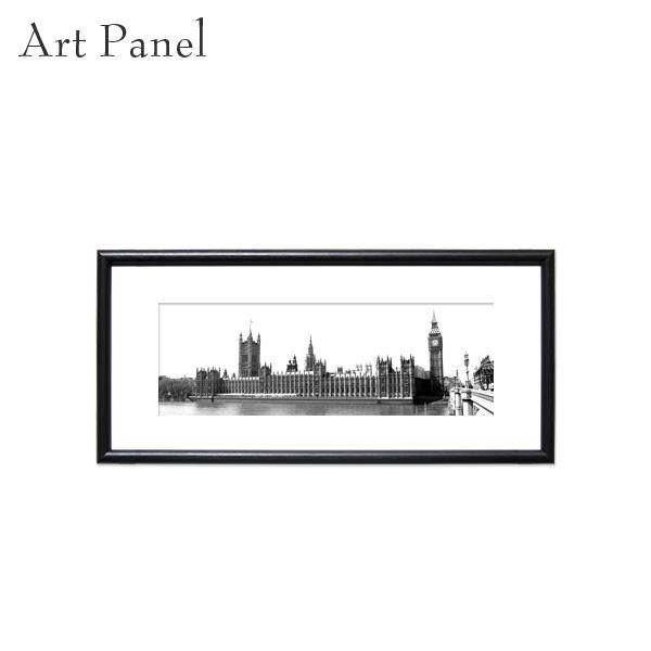 横長 ポスター ロンドン イギリス アート モノトーン 街並み アートボード 展示 飾り物 インテリア おしゃれ 絵画