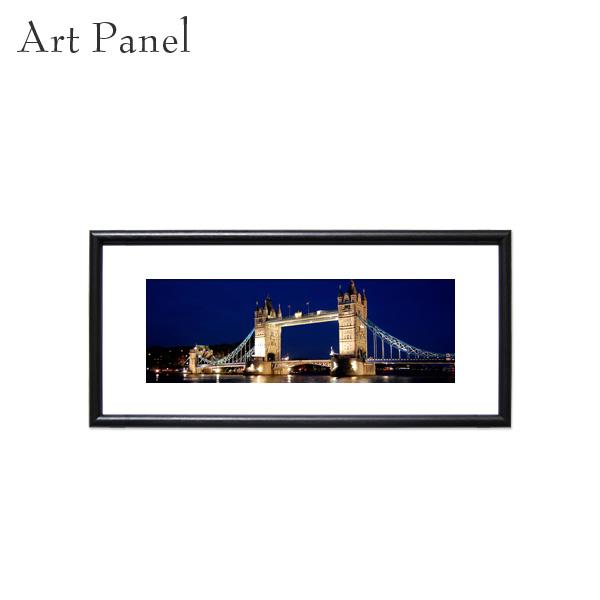 横長 ポスター ロンドン 橋 夜景 アートパネル 展示 壁掛け 風景 パネル アートボード インテリア おしゃれ 絵画