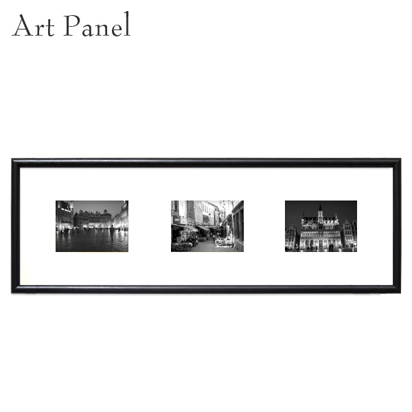 アートパネル 横長 モノクロ ベルギー 街並み 白黒 インテリア 壁掛け おしゃれ 写真 壁面 飾り 3枚 アートボード
