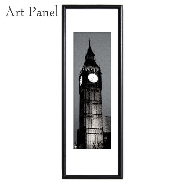 縦長 額付 ロンドン ビックベン 時計 写真 おしゃれ アートパネル モノクロ 壁 インテリア モダン グラフィック ポスター 絵画