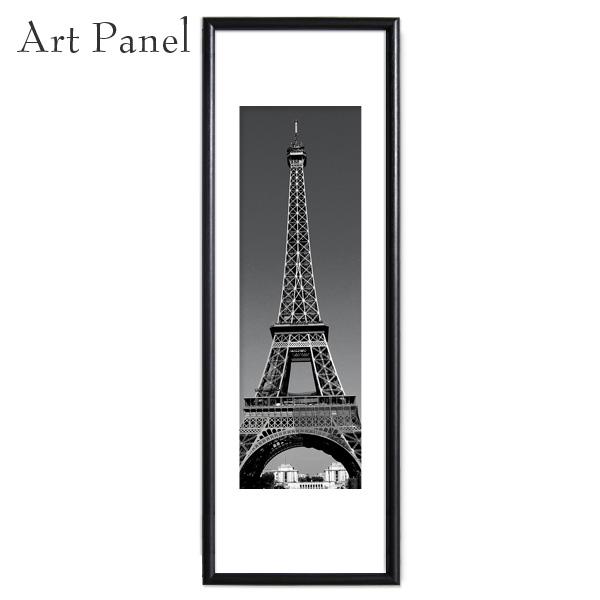 モノクロ 縦長 パリ エッフェル塔 写真 おしゃれ アートパネル インテリア アートフレーム グラフィック ポスター 絵画