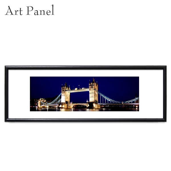 横長 絵画 ロンドン 夜景 写真 フレーム付 おしゃれ 額 アートパネル 飾り インテリア モダン グラフィック