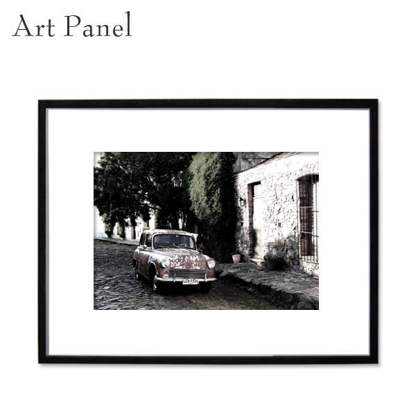 アートパネル モノトーン 海外風景 写真 壁掛け インテリア 黒フレーム アルミ アクリル 大きめ フック付き 壁面 装飾 飾り物