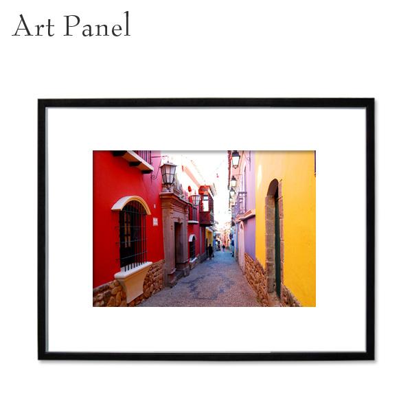 アートパネル 壁掛け インテリア 海外 街並み 額付き 写真 黒フレーム アルミ アクリル 大きいサイズ インテリアショップ