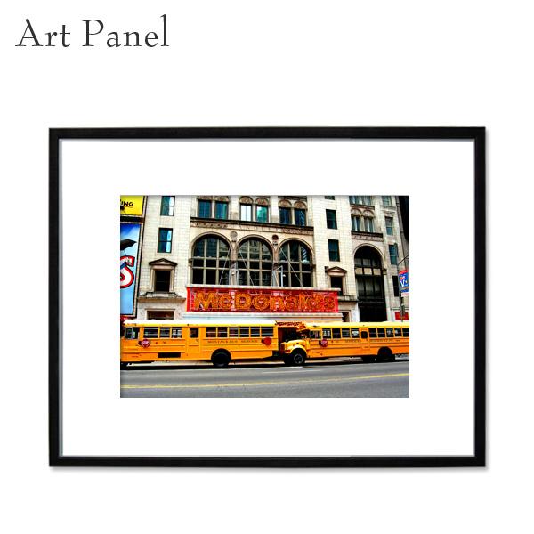 インテリアアートパネル ニューヨーク 壁掛け 海外 額付き 写真 黒フレーム アルミ アクリル 大きいサイズ