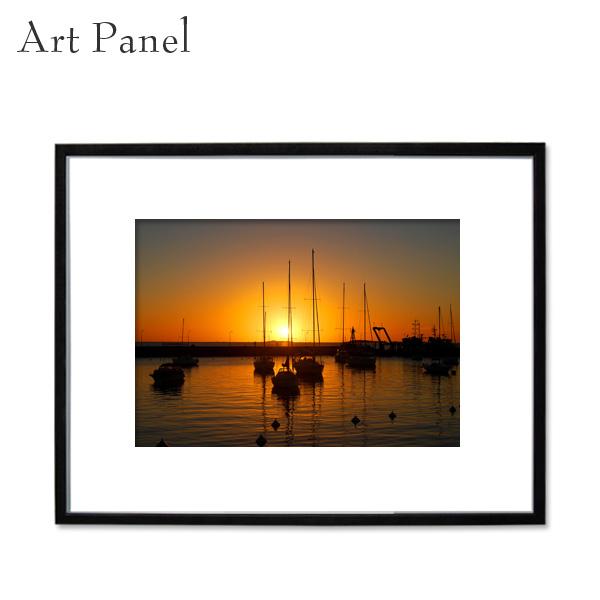 インテリアアートパネル 壁掛け 海外 海 額付き 写真 黒フレーム 絵画 アルミ アクリル 大きめ