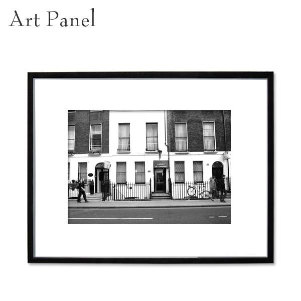 インテリアアートパネル モノトーン おしゃれ 壁掛け ロンドン 壁飾り フォトパネル 大きい フック付 アルミフレーム