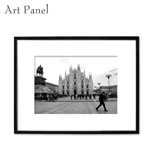 インテリアアートパネル モノクロ 海外風景 壁掛け アート写真 リビング ダイニング 玄関 額縁 アルミフレーム