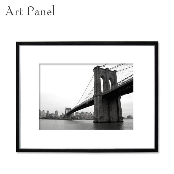 インテリアアートパネル モノトーン 壁掛け アート写真 リビング ダイニング 玄関 額縁 アルミフレーム ニューヨーク