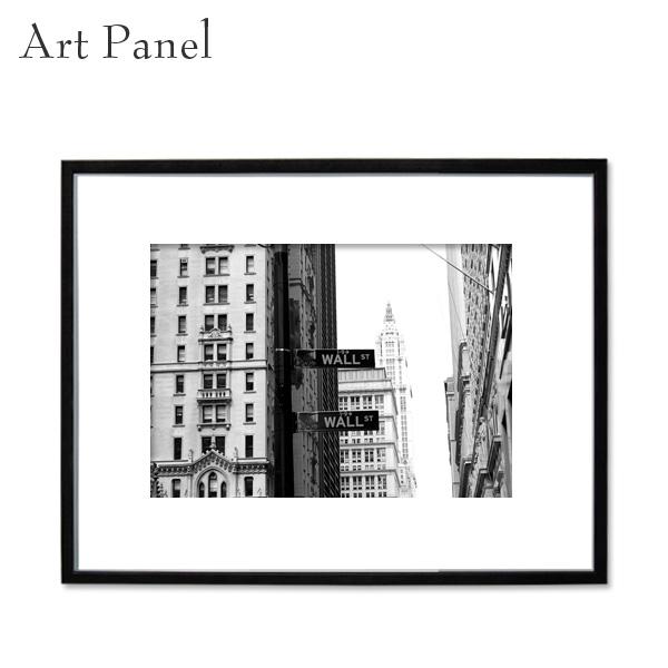 インテリアアートパネル モノクロ 壁掛け アート 写真 白黒 リビング ダイニング 玄関 額縁 アルミ ニューヨーク