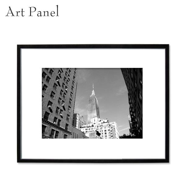 インテリアアートパネル モノクロ NY 壁掛け 風景 アルミ 額縁 写真 壁面 飾り 大きい アートボード