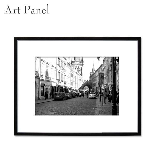 アートパネル モノクロ 写真 壁掛け 白黒 海外街並み インテリア おしゃれ 店舗 フォトパネル アートボード