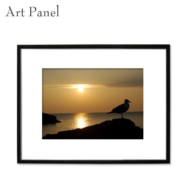 インテリアアートパネル 海 夕日 壁掛け アート 写真 ディスプレイ 飾り物 フォトパネル アートボード