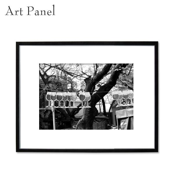 アートパネル モノトーン フレーム付き 海外風景 壁掛け アート写真 白黒 飾り物 フォトパネル インテリアボード