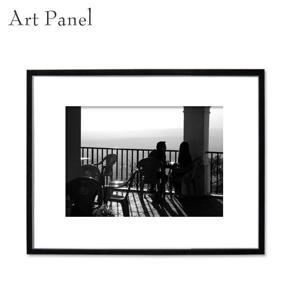 モノクロアートパネル インテリア フレーム付き 壁掛け アート写真 飾り物 フォトパネル インテリアボード