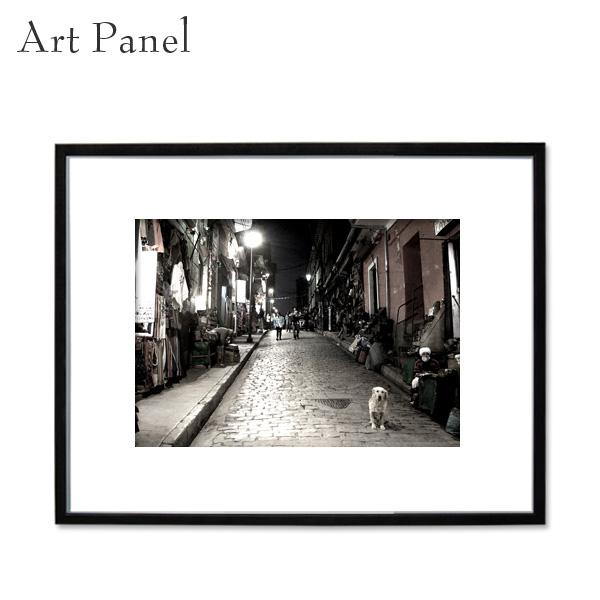 アートパネル モノトーン インテリア 海外街並み フレーム付き 壁掛けアート 白黒 写真 風景パネル インテリアボード