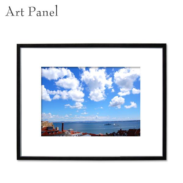 アートパネル 海外 街並み 壁掛け アート モノクロ 海外風景 ポルトガル 額縁 フレーム付き 壁面 飾り インテリアボード