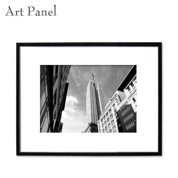 アートパネル モノクロ アメリカ ニューヨーク 街並み 壁掛け アート 海外風景 額縁 フレーム付き 壁面 飾り インテリアボード