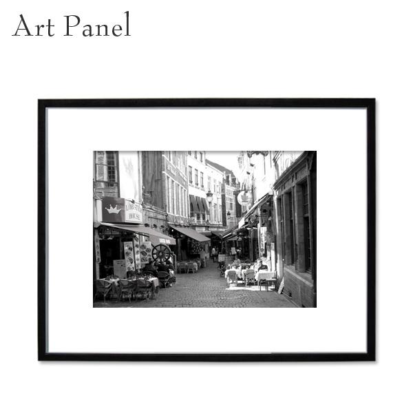 アートパネル インテリア モノトーン モダン 壁掛け 玄関 おしゃれ 大きめ 白黒 海外風景 フレーム付き 写真 飾り