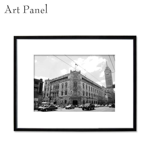 壁掛け アート 街並み モノトーンパネル 海外 インテリア モダン 壁掛け 風景 フレーム付き 写真 壁面 アートボード
