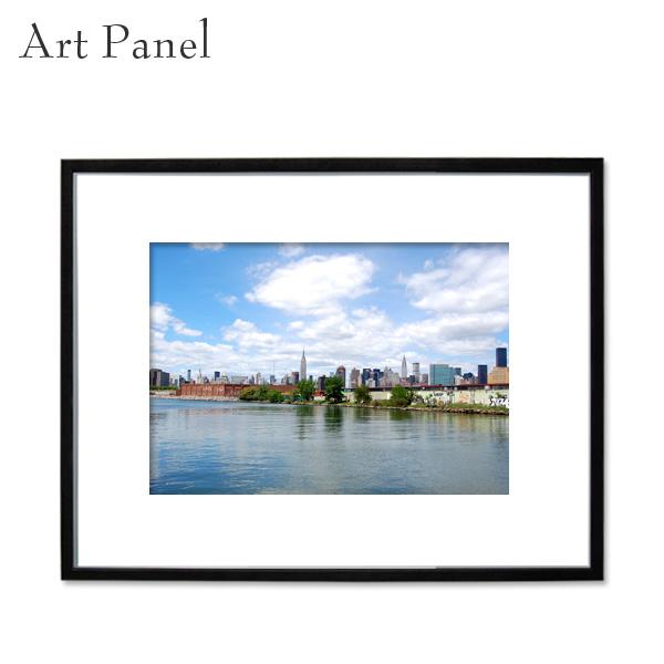 ニューヨーク 壁掛け アート ウォールパネル インテリア モダン 街並み フレーム付き 写真 壁面 アートボード