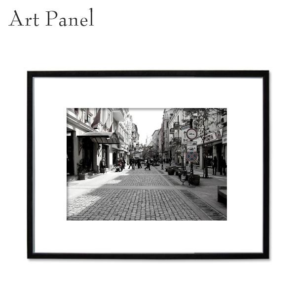 モノトーン風景 壁掛け アートパネル インテリア モダン 街並み フレーム付き 写真 壁面 アートボード