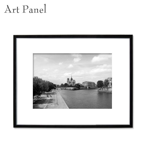 アートパネル モノクロ パリ 街並み 壁掛け 装飾 白黒 雑貨 インテリア モダン フレーム付き 写真 壁面 パネル