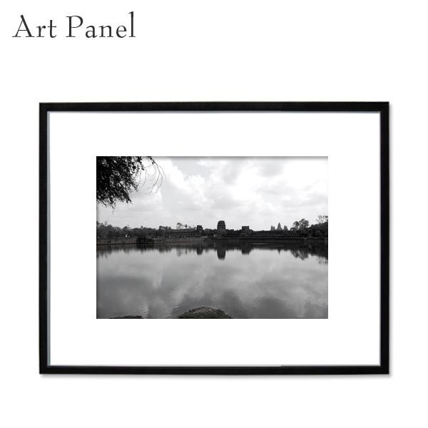 アートパネル 壁掛け 遺跡 モノクロ 装飾 白黒 雑貨 インテリア モダン フレーム付き 写真 壁面 パネル