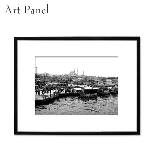 アートパネル 街並み トルコ モノクロ 装飾 白黒 風景 インテリア モダン フレーム付き 写真 壁掛け アート