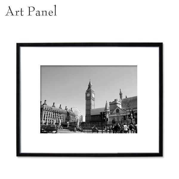 アートパネル モノクロ ロンドン 装飾 白黒 風景 インテリア モダン フレーム付き 写真 壁掛け アートボード