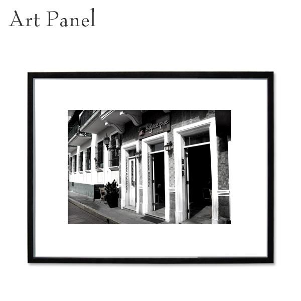 アートパネル モノクロ パナマ 海外風景 白黒インテリア モダン 壁 フレーム付き 写真 壁掛け アートボード