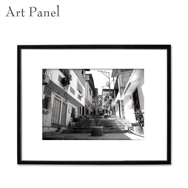 アートパネル モノクロ エクアドル 写真 海外 白黒 インテリア モダン 壁 フレーム付き 壁掛け アートボード