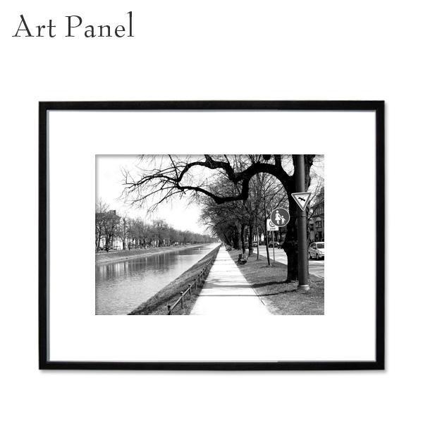 アートパネル 街並み モノクロ アート写真 ドイツ 白黒 インテリア モダン 壁面 フレーム付き 壁掛け アートボード