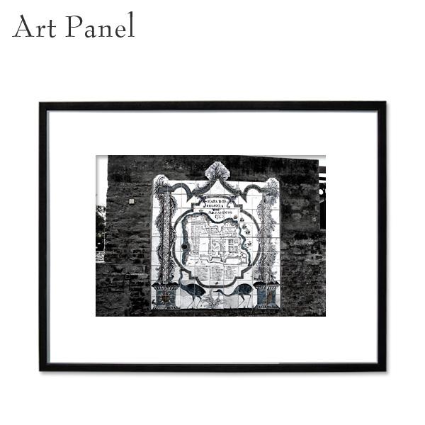 アートパネル 街並み コロニア モノクロ アート 写真 白黒 インテリア モダン 壁面 フレーム付き 壁掛け アートボード