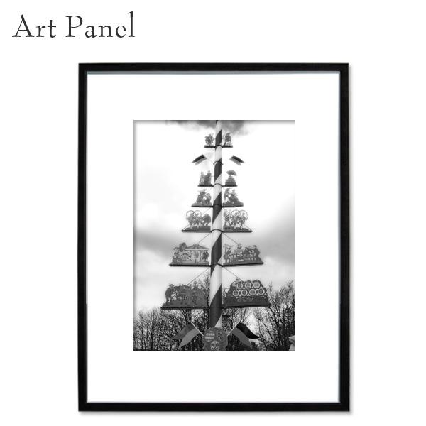 アートパネル モノクロ ドイツ 街並み アート 写真 白黒 インテリア モダン 壁面 額入り 壁掛け アートボード
