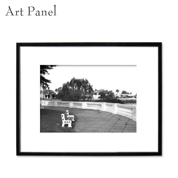アートパネル モノクロ ウルグアイ 街並み アート 写真 白黒 インテリア モダン 壁面 壁掛け アートボード