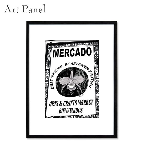 アートパネル モノクロ メキシコシティ アート 写真 白黒 インテリア モダン 壁面 額入り 壁掛け アートボード