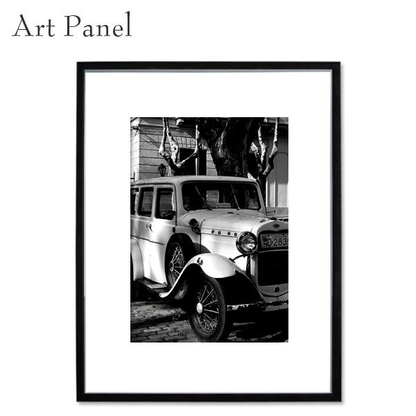 壁掛け アートパネル モノトーン インテリア クラシックカー 写真 ポスター 白黒 モダン 額付 アートボード