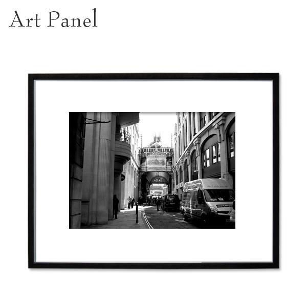 ロンドン アートパネル モノクロ 写真 街並み インテリア モダン 額縁 絵画 壁掛け 住宅 展示