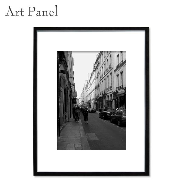 アートパネル 街並み パリ フランス モノクロ 写真 インテリア モダン 縦 額縁 絵画 ポスター 壁飾り