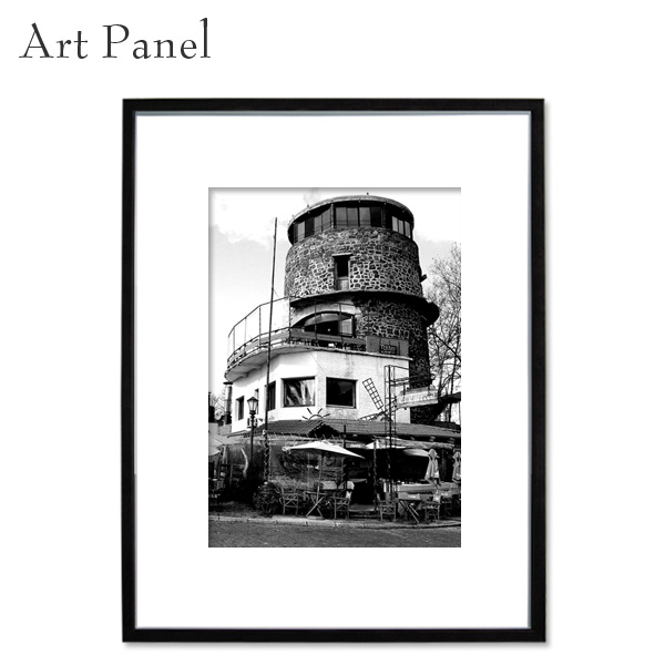 フォトアート パネル 海外風景 モノクロ 写真 インテリア モダン 縦 額縁 絵画 ポスター 壁飾り