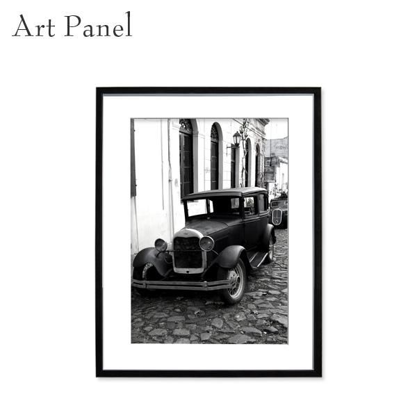 アートパネル モノクロ レトロ 白黒 風景 壁掛け インテリア 黒フレーム アルミ アクリル 壁面 装飾 写真